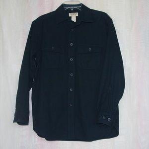 Dark Blue Chamois Cloth Shirt